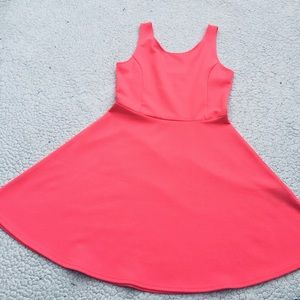 Pink-orange crushes Polyester Dress